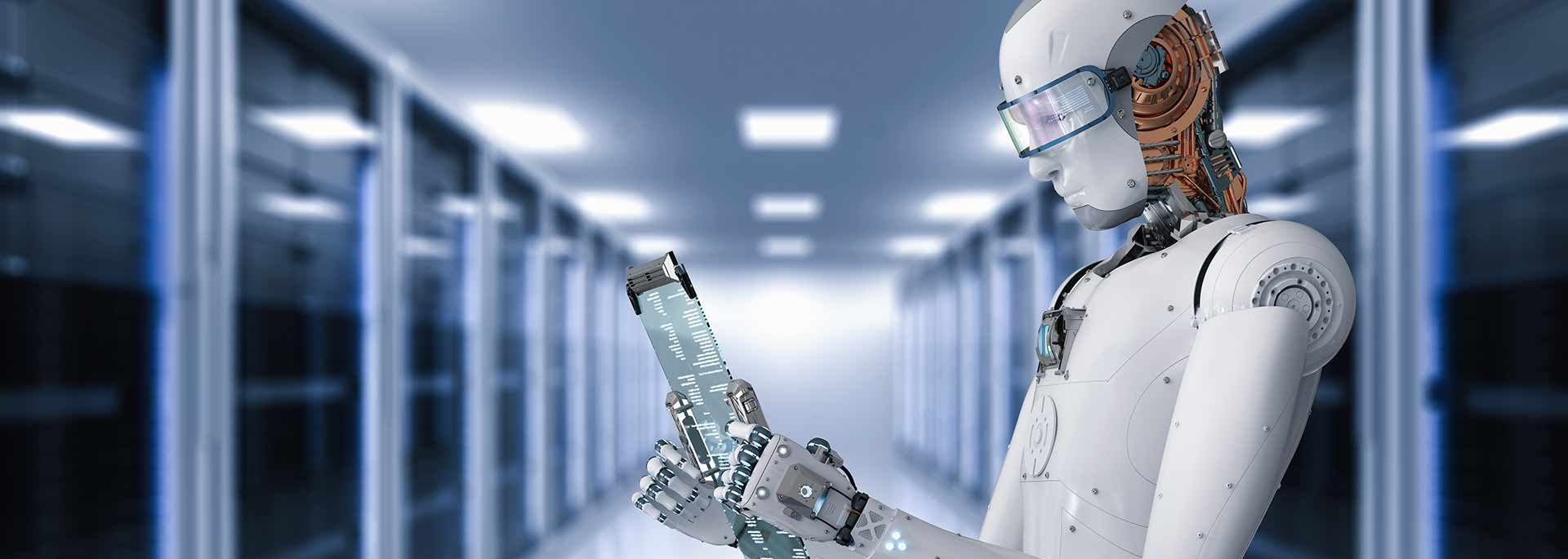 Roboter mit Tablet