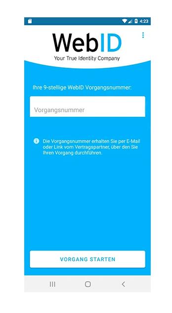 Startscreen Android